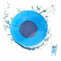 JQAIQ Drahtlose Bluetooth Lautsprecher Wasserdicht Dusche Lautsprecher Tragbare Lautsprecher Mini Auto Freisprecheinrichtung Musik Saug Mic Für Telefon