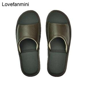 Image 2 - หนัง Sheepskin แท้รองเท้าแตะคู่ Indoor Non SLIP ผู้ชายผู้หญิงหน้าแรกแฟชั่นแบบสบายๆรองเท้าเดี่ยว PVCsoft soles ฤดูใบไม้ผลิฤดูร้อน