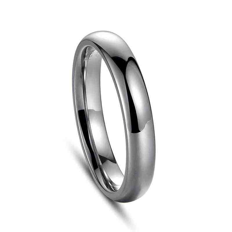 แหวนสแตนเลส Rose Gold Anti - allergy เรียบเรียบส่วนบุคคลที่กำหนดเองคู่แต่งงานแหวน Bijouterie