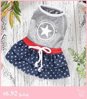 ▽Nueva moda animales vestidos para perros CQ22 pequeños Yorkshire caniche  Otoño Invierno trajes azul Pink Dots partido mimoso gato suministros - a145 4aa2aa5f89e