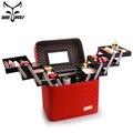 Bolso de maquillaje multicapa de gran capacidad organizador de bolsa de cosméticos profesional para cosméticos bolsas de aseo de moda