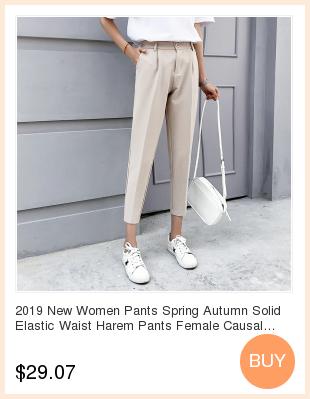 19 Autumn New Women Elastic Woolen Pant Female Plus Size Casual Trousers Black/Gray Harem Pants Winter Wool Ankle-Length Pants 5