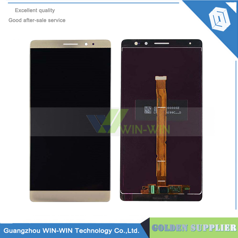+Frame white LCD Display + Touch Screen Digitizer Assembly Replacement For Huawei Ascend Mate 7 Free Shipping 6 lcd display screen touch glass digitizer assembly for huawei ascend mate 8 mate8 white gold free shipping
