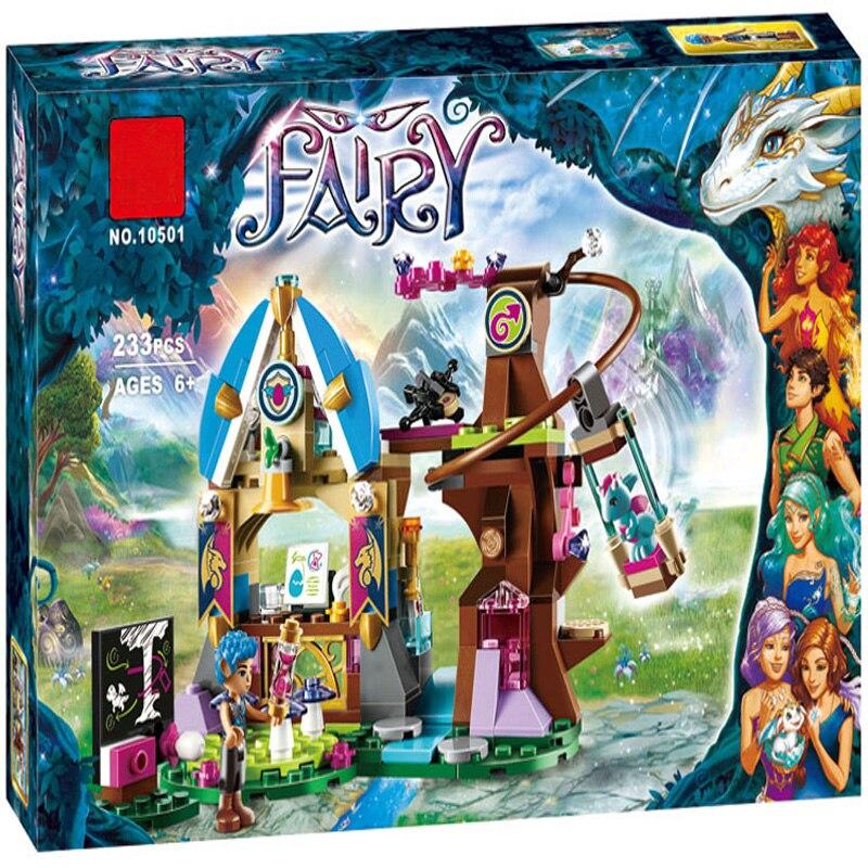 10501 Elves Elvendale Dragon School Building Blocks Набор игрушек, совместимых LegoINGly Elves 41173 Друзья для девочки Рождественский подарок