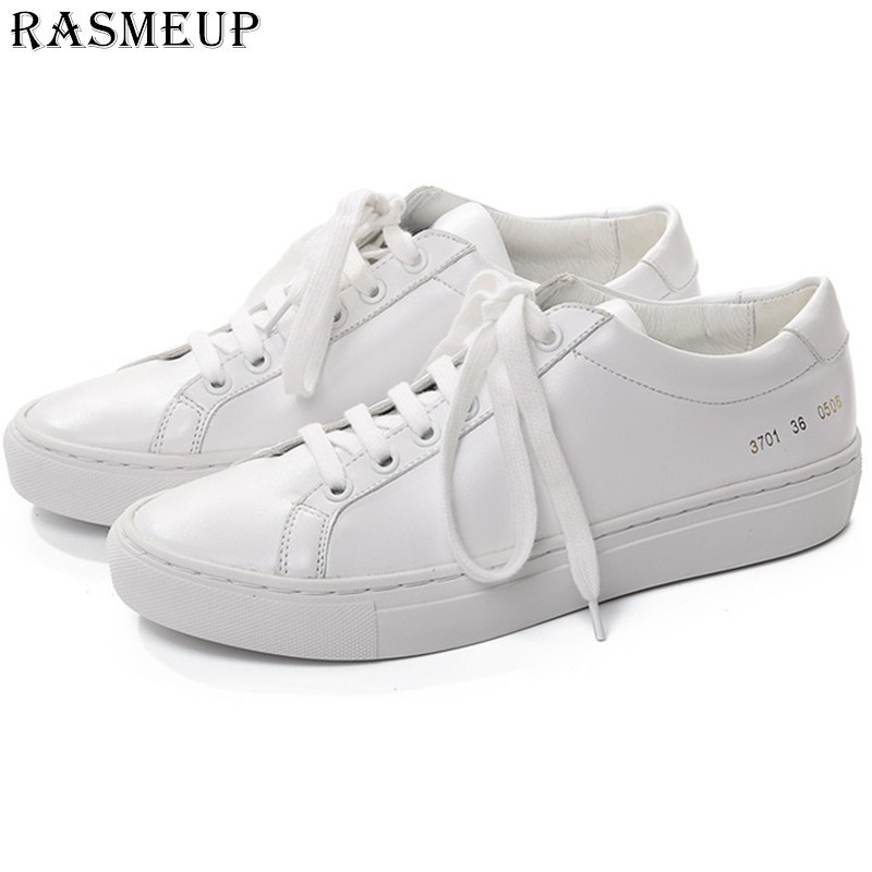 Aliexpresscom  Buy Rasmeup Women White Sneakers Leather -5492