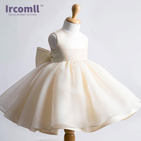 New 2016 Fshion Flower Girl Dress Kids Clothing Party Wedding Birthday Girls Dresses Baby Girl White