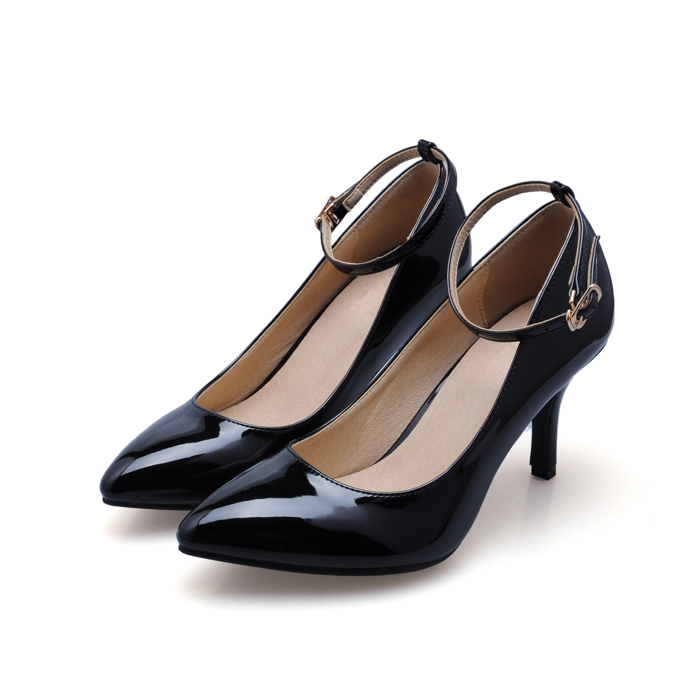 New 2017 Women Pointed Toe High Heels Sexy Patent Genuine Leather Ladies Pumps Fashion Sheepskin Party Dress Shoes SMYCN-53 facndinll new black patent genuine leather pointed toe rhinestone sexy high heels lace up women pumps ladies party casual shoes