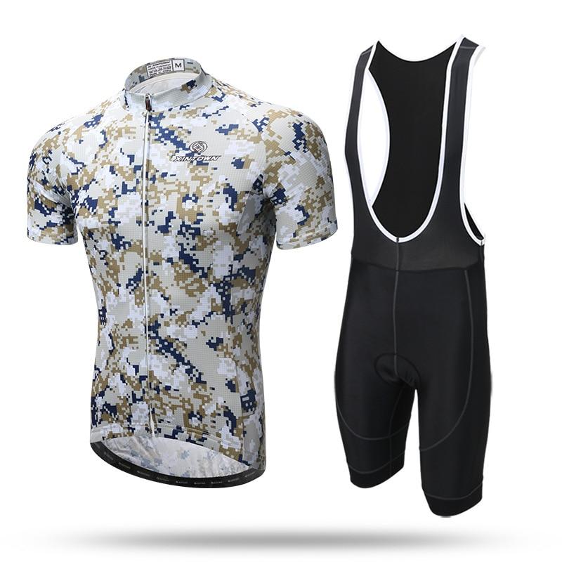 XINTOWN 2017 new mtb Cycing Sets Short Strap Suit Summer Short Sleeve Cycling Clothing Cycling Equipment