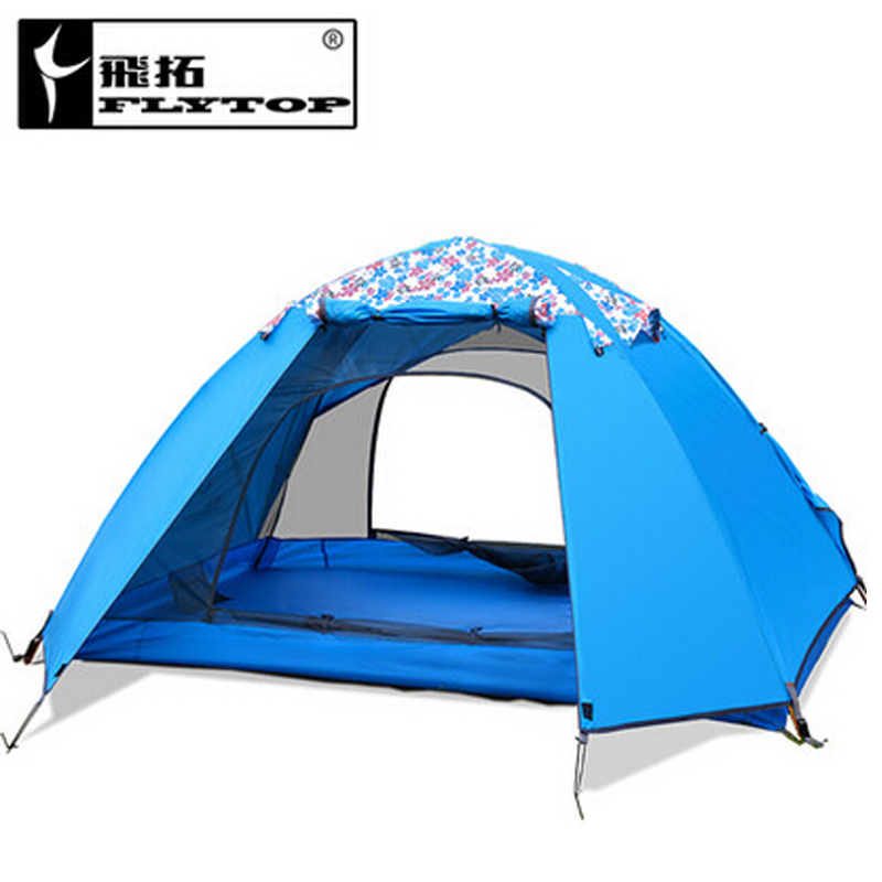 FLYTOP Ultralight outdoor tent recreation barraca tents travel waterproof double layer 1-2 person Hiking tent camping equipment good quality flytop double layer 2 person 4 season aluminum rod outdoor camping tent topwind 2 plus with snow skirt