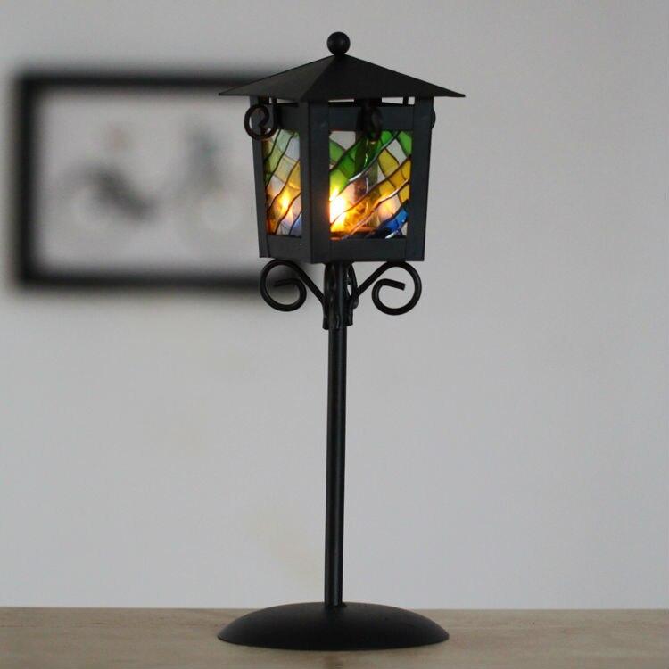 Wholesale Free shipping iron street lamp sharp candle ...