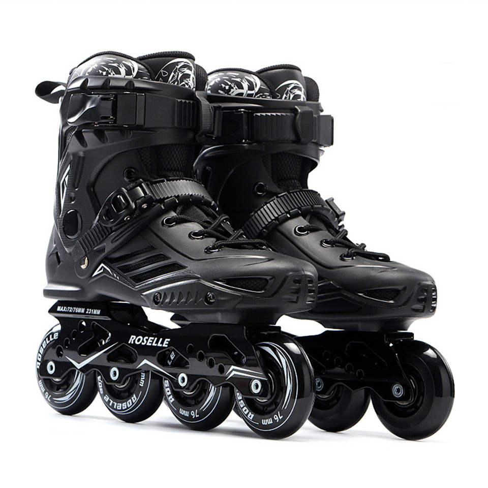 JK Original Roselle S6 Inline Skates Professional Slalom Sliding Free Skating Adult Roller Skating Shoes Good As SEBA Patines P1