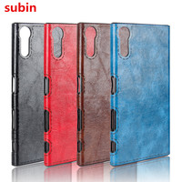 For Sony Xperia XZ F8332 Case Soft TPU+PU Retro Leather Paste skin Silicone Cover For Sony Xperia XZs Dual G8232 Phone Bag Cases