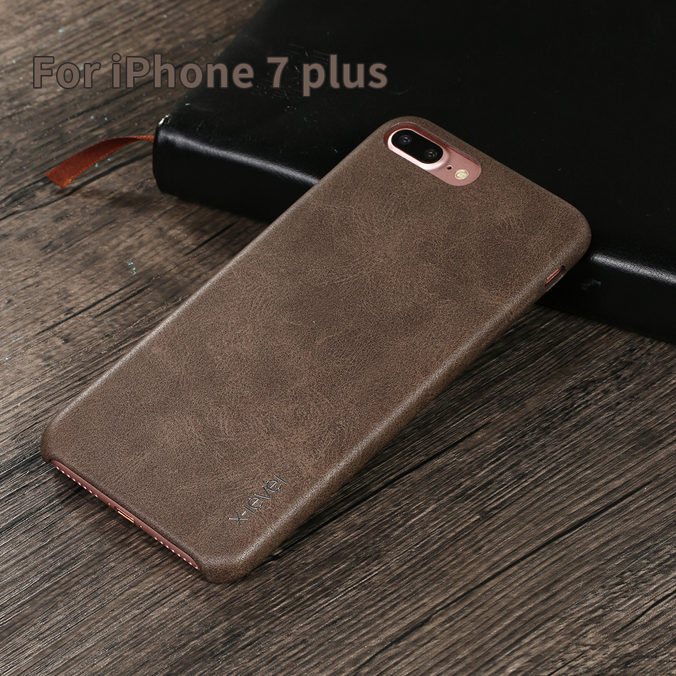 Uncategorized Quality Of Leather x level vintage leather case for apple iphone 7 plus protective back cover 8 capa funda men female in fitted