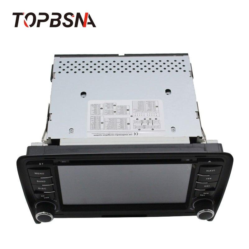 Discount TOPBSNA 2 Din Car DVD Player For AUDI TT/TTS MK2 8J 2006-2012 GPS Navigaiton multimedia automotive dvd Auto Stereo Headunit USB 3