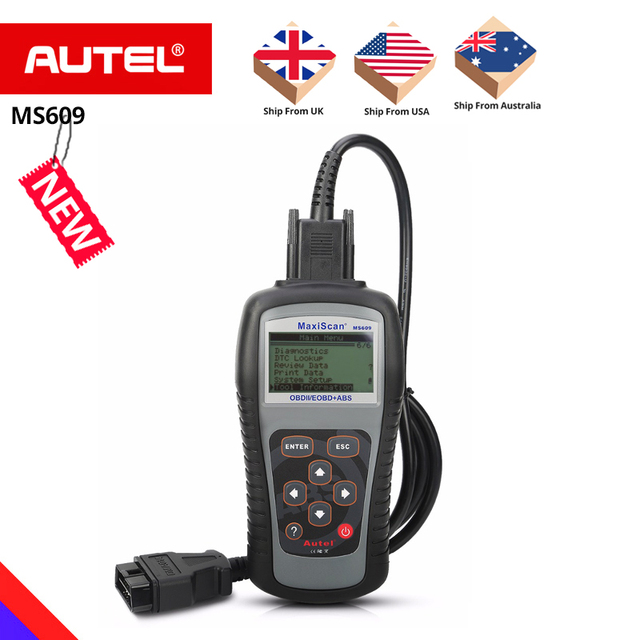 New Price Autel Maxiscan MS609 OBD2 Scanner Code Reader with Full OBD2 Functions ABS Diagnostics DTC Definitions Advanced of MS509 & AL519