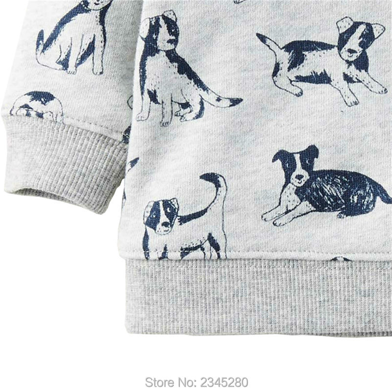 T Shirts For Baby Boys T-shirts Clothes Sweater Child Tops Long Sleeve Dog Print Children Tees Clothes Tops Clothing Bobo Choses02
