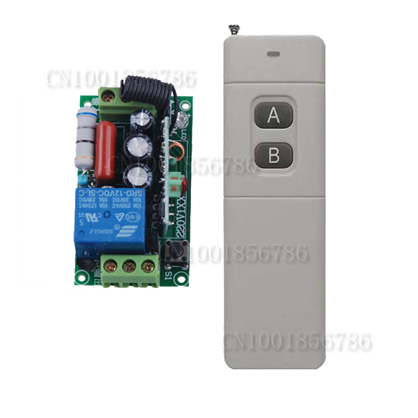 AC220V 10A Wireless Remote Control Switch Long Distance Long Range Transmitter Lamp Light Bulb Motor Remote ON OFF 315/433MHZ
