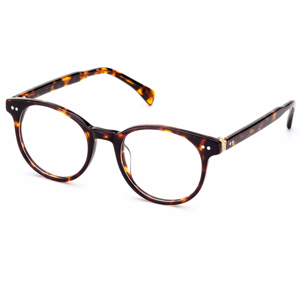 COLOSSEIN Vintage Sunglasses Men Fashion Brand Designer Sun Glasses For Women Acetate Black Brown Blue Frame Round Style
