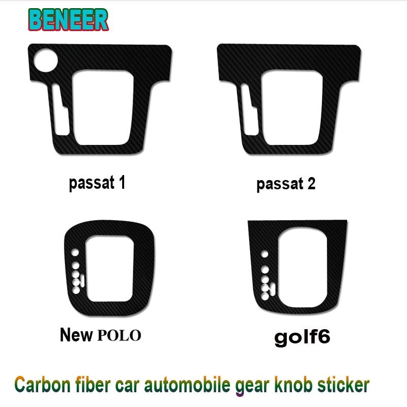 Carbon fiber Car gear shifter interior decoration sticke