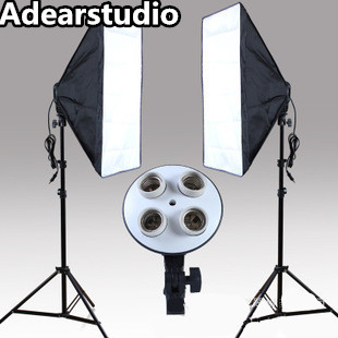 Photo Studio Kit Photography 2PCS*4 Socket Lamp Holder 2PCS*Softbox photography light Continuous Lighting softbox kit no00dcPhoto Studio Kit Photography 2PCS*4 Socket Lamp Holder 2PCS*Softbox photography light Continuous Lighting softbox kit no00dc