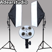 Photo Studio Kit Photography 2PCS*4 Socket Lamp Holder 2PCS*Softbox photography light Continuous Lighting softbox kit no00dc