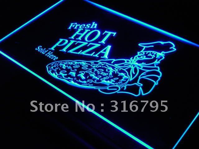 s023 Fresh Hot Pizza Sold Here NEW LED Neon Light Sign On/Off Switch 20+ Colors 5 Sizes