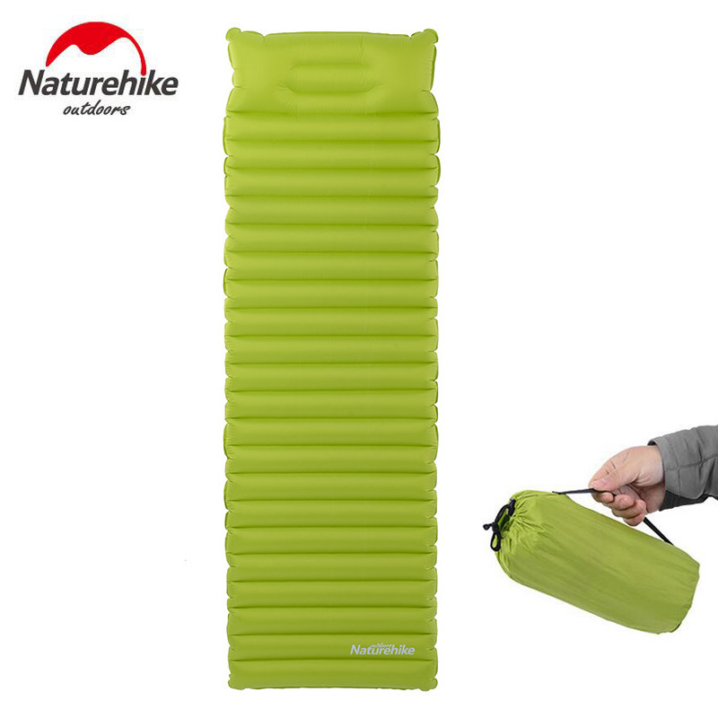 Naturehike Hiking Camping Mat Inflatable Mattress With Pillow 550g Ultralight Outdoor Tent Sleeping Pad Mats Beach Air Bag Bed ultralight inflatable mattress bed portable folding outdoor camping mat air mattress sleeping pad with pillow