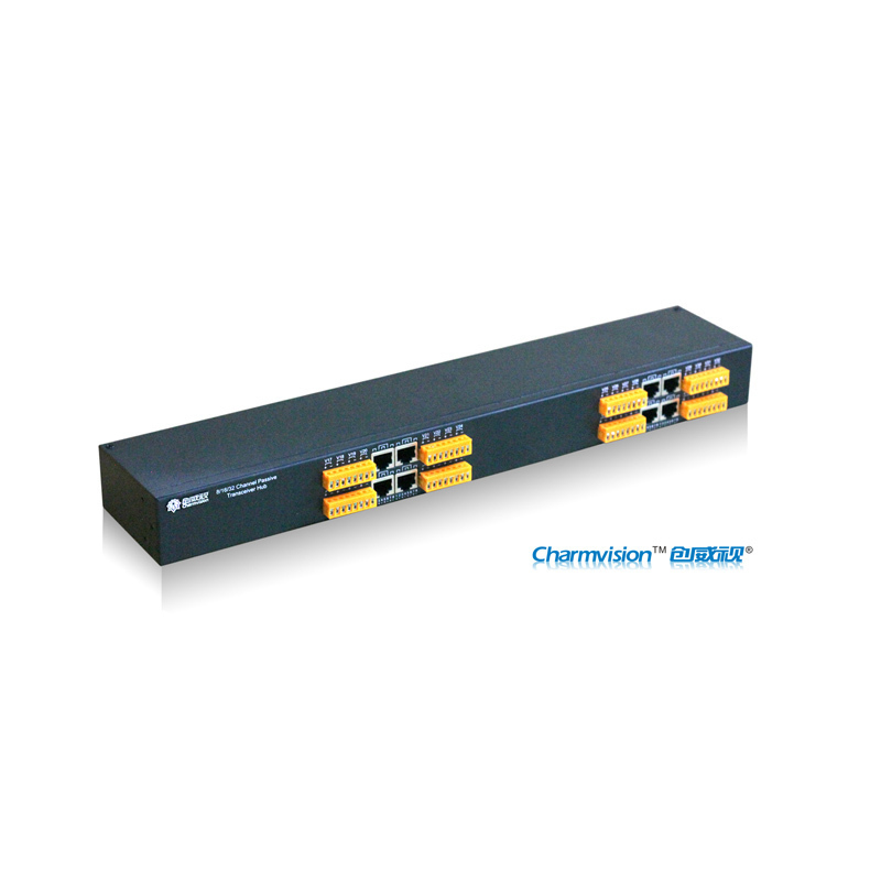 Charmvision ETV32D 32 channels RJ45 ports twisted pair video transmission sender transmitter receiver rack-mounted passive type passive receiver