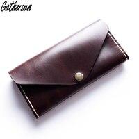Original Design Handmade Wallet 100 Genuine Leather Women S Vintage Style Long Wallet