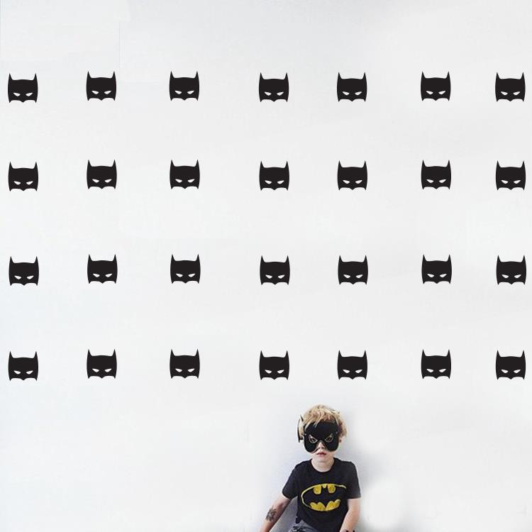 Decalque da parede para o quarto dos meninos Super Herói Batman Máscara Removível adesivos de parede para Meninos quarto Art mural decoração KW-144