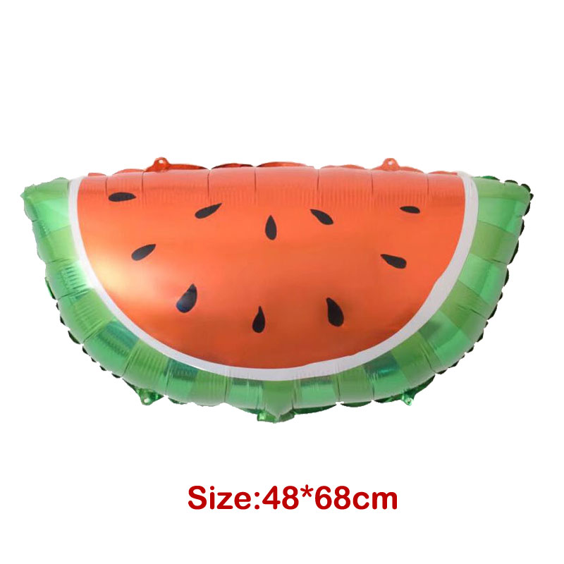 1pc Red Watermelon Aluminum Balloon Globos Kids Toys Birthday Party Supplies Summer Pool Party Beach Party Decoration