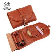 Firedog Pipe Tobacco Pouch Travel Genuine Leather Somking Tobacco Pipe Tool Case Accessories