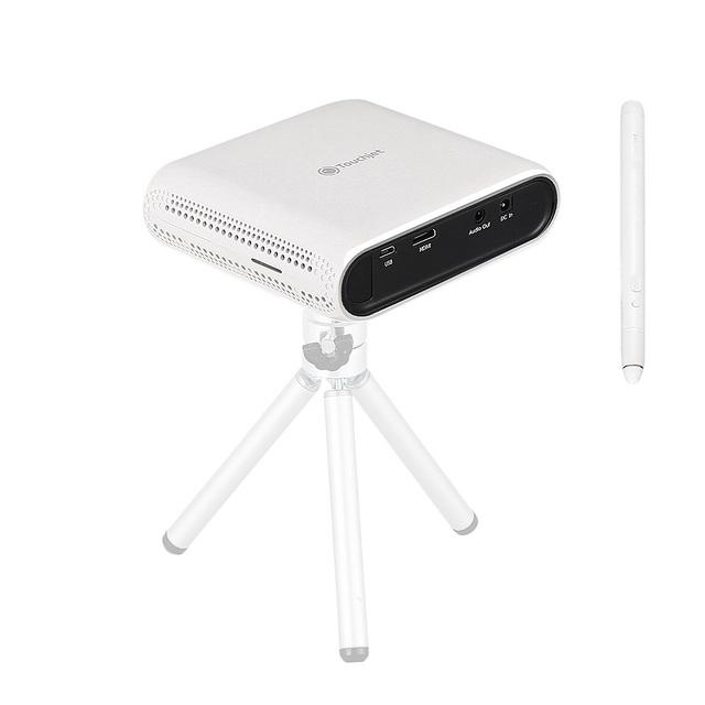 Touchjet Lagoa Toque Inteligente Projetor Portátil Mini LED Sem Fio Sistema de Home Theatre TV Escritório Educação Precoce 854x480 80LM