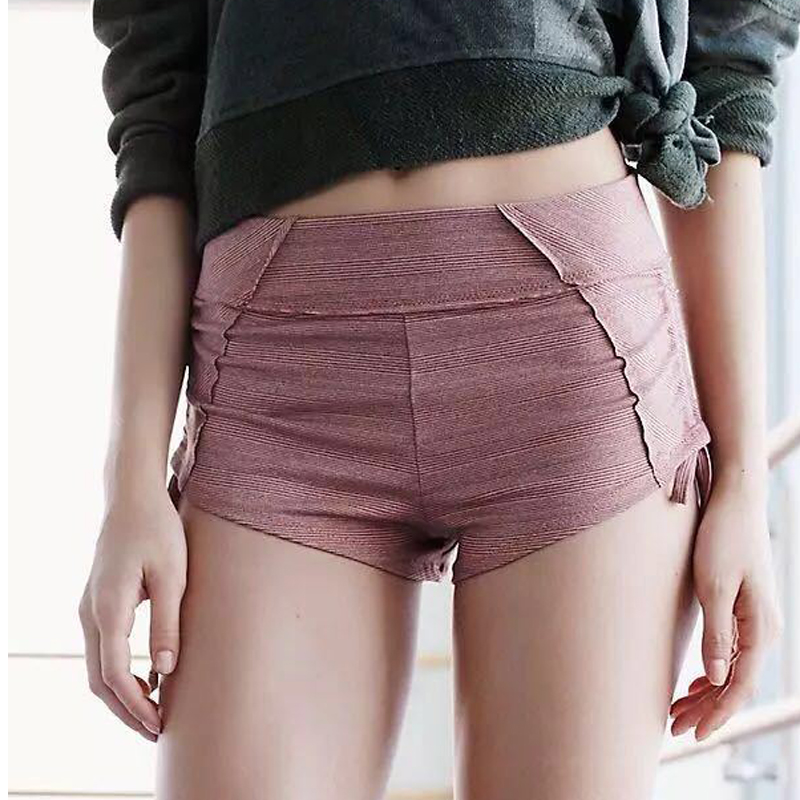 Fitness Women Shorts Push Up Sexy Hip Workout Running Tight Shorts Two Side Rope Quickly-dry Yoga Shorts