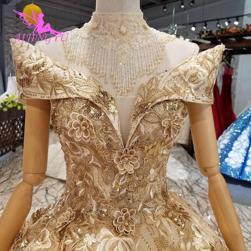 AIJINGYU Romantic Angel Wedding Dress Boho Gowns Medieval Vintage Bride  Unique Gown Muslim Luxury Wedding Dresses b68bb6f90e85