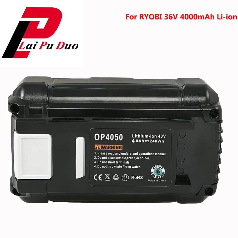 Pour Ryobi batterie Rechargeable outil électrique 36 V 4000 mAh batterie Li-ion RY40210 RY40204 RY40210 RY40200 RY40610