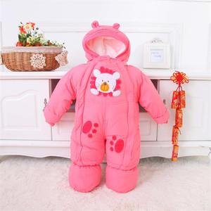 Image 3 - Baby Clothes Winter Autumn Style Newborn Baby Rompers New Cotton padded Baby Boys Girls Jumpsuits Cartoon Infant Overalls