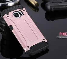 Dual Layer Hibrida Plastik + TPU Case Cool Heavy Duty Armor Cover untuk Samsung Galaxy S6 S7 Edge S8 PLUS note 5 8 Shell Capa(China)
