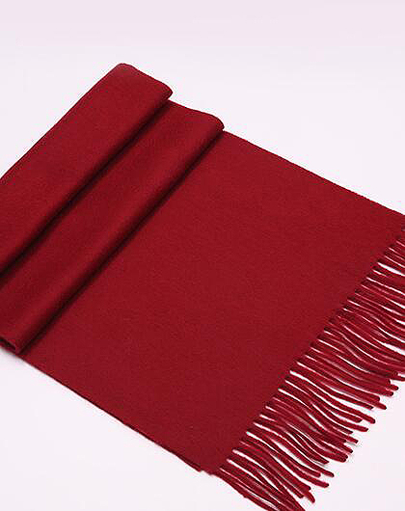 100%Cashmere Scarf Women Dark Red Solid Spring Winter Natural Fabric Extra Soft&Warm High Quality Free Shipping