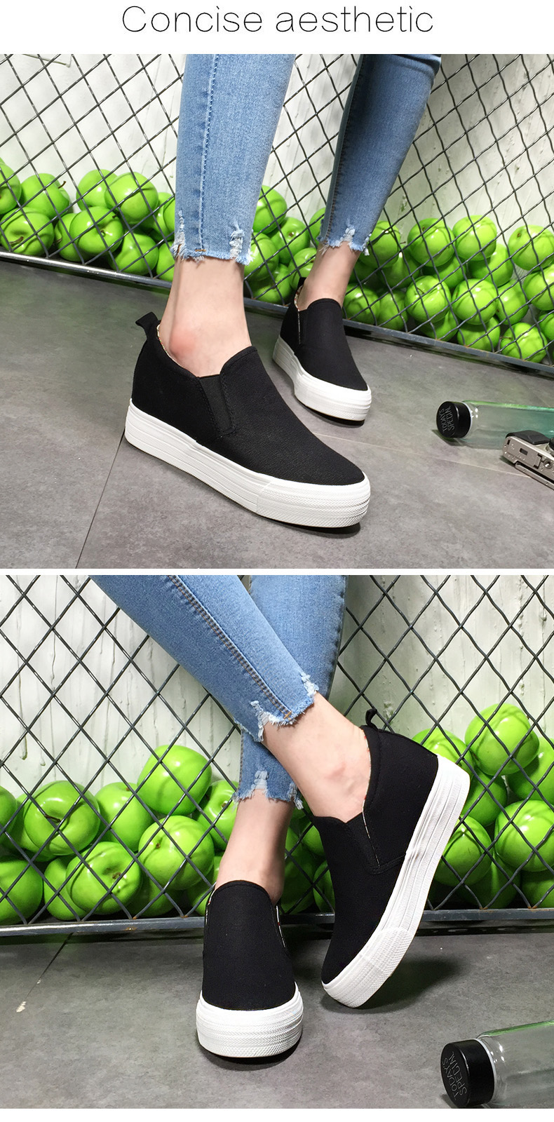 New 2019 Thick Sole Muffin Shoes Women Flat Platform Fashion Women s ... 52c96ca74689