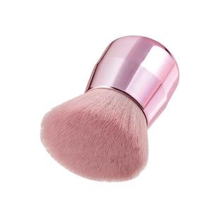 Image 4 - BBL Pro розовая Кисть для макияжа лица/тела/щеки Кабуки мягкая и пушистая портативная Кисть для макияжа для смешивания