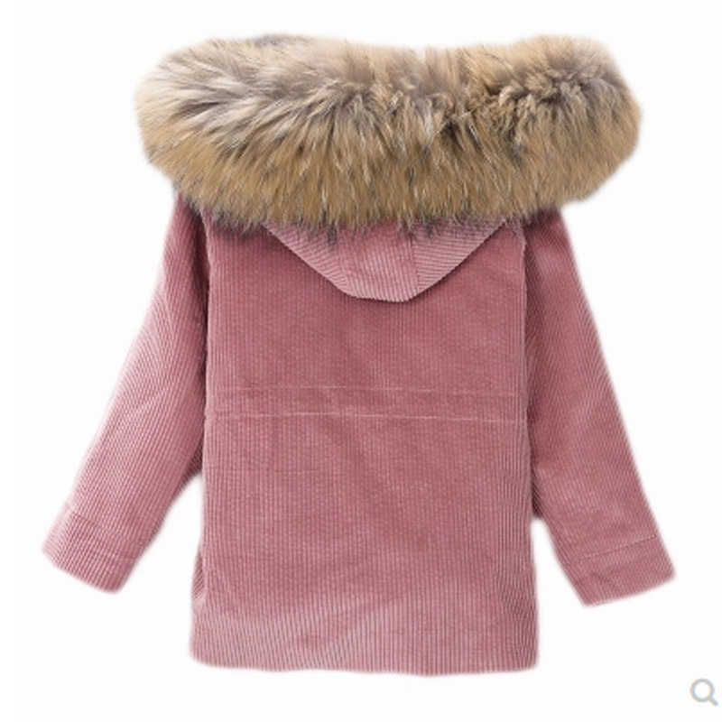 JKP 2018 Rex rabbit fur grass coat girl party to overcome corduroy children jacket thick warm jacket fashion coats SW-50 fashion rabbit and grass pattern 10cm width wacky tie for men