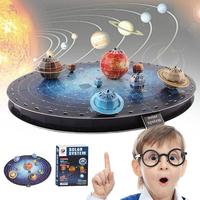 Baby Toy Gift 3D Puzzle Model Solar System Paper Model DIY Toy Birthday 3D PUZZLE LEANING