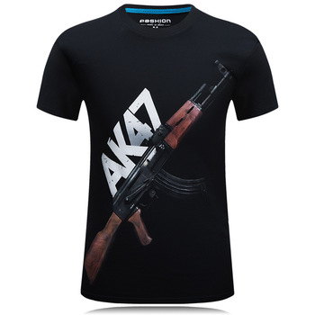 Summer New T Shirt Men 3D Print Firearms Mens T Shirt Casual Short Sleeve Tops Tees Brand Tee Shirts Homme Tops Plus Size 6xl gildan solid color cotton t shirts men clothing male slim fit t shirt man t shirts casual brand t shirt mens tops tees euro size