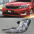 Car DRL Kit for KIA Rio K2 2011 2012 2013 2014 LED Daytime Running Light bar auto Fog lamps bulb daylight  light for car led drl