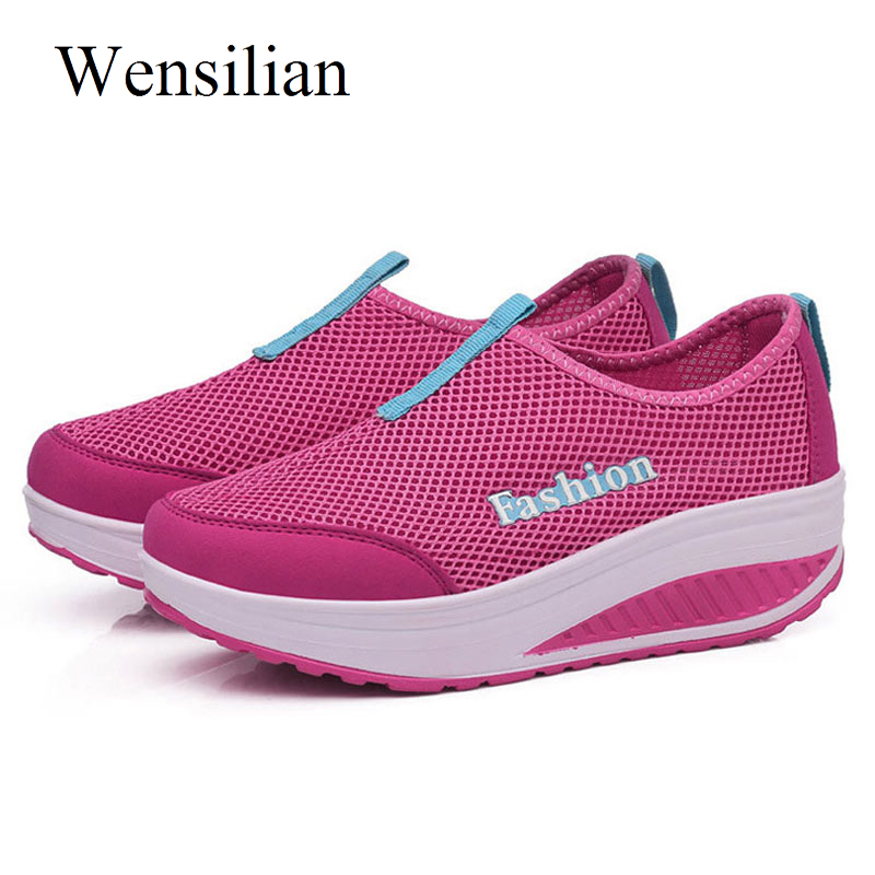 Fashion Summer Sneakers Women Slip On Shoes Tenis Feminino Trainers Women Casual Shoes Ladies Wedges Sneakers Zapatos Mujer