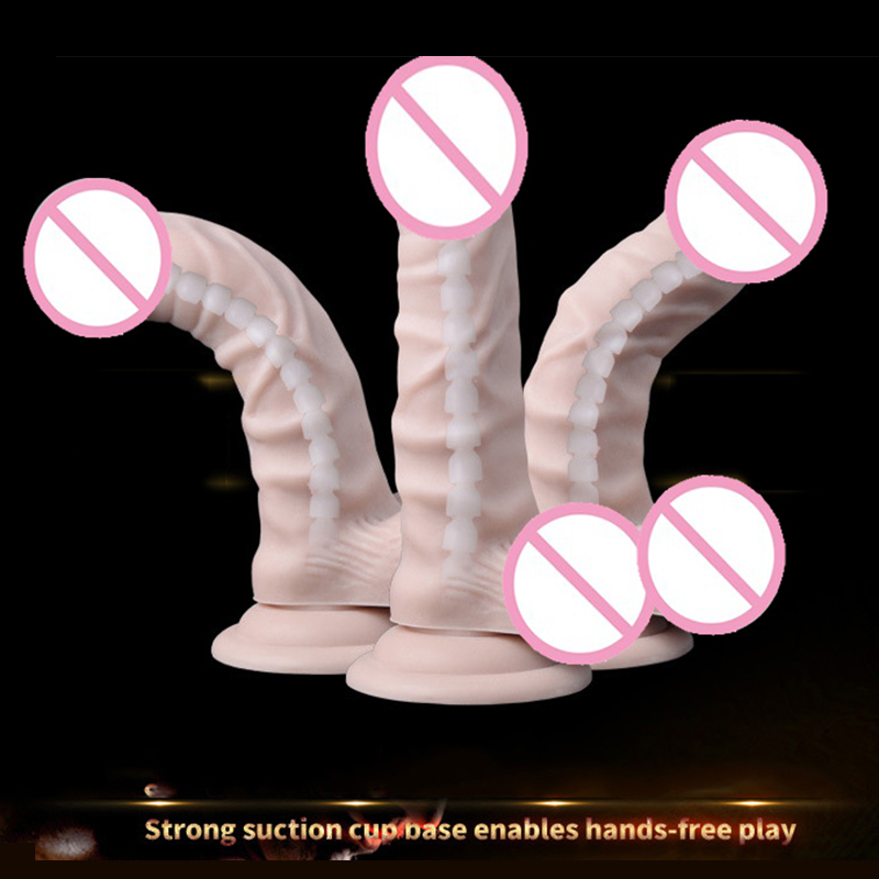 Dildo Realistic Huge Penis Sex Toys for Woman Real Rubber Dick Foreskin Big Dildo Suction Cup Dildo Adult Toy Sex Products electric heating penis silicone realistic big dildo vibrator sex toys for woman lifelike huge dick foreskin usb charging
