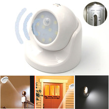 Adjustable LED Motion Light Activated Sensor Indoor Outdoor Cordless Patio Wall H1TY0