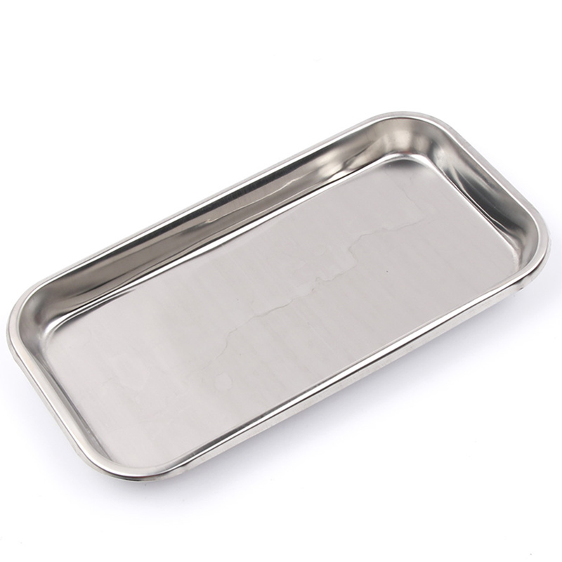 Image 2 - 1PC Stainless Steel Cosmetic Storage Tray Nail Art Equipment Plate Doctor Surgical Dental Tray False Nails Dish Tools-in Nail Art Equipment from Beauty & Health