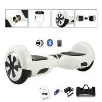 6.5 inch Hoverboard Smart Two Wheels Electric Scooter Self Balance Board Skateboard mit Bluetooth White